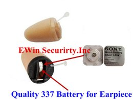 Wholesale Button Battery Silver Oxide - Wholesale 50pcs lot 1.55V Silver Oxide 337 battery for covert earphone sr416Sw Cell Button Batteries for watch