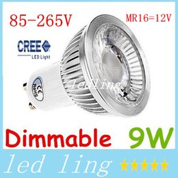 Wholesale Dimmable Globe Mr16 Led - Dimmable 9W COB Led Bulbs Light 12V MR16 GU5.3 E27 E26 GU10 Led Spotlights 60 Angle Warm Natural Cool White + CE ROHS