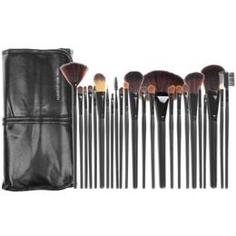 Maquiagem sombra pacote on-line-Pincéis De Maquiagem Make up Brushes 24 pcs Profissional Kit Escova Cosmética De Lã De Nylon PU De Couro Macio Pacote Sombra Fundação Sombra Ferramentas