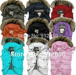 Wholesale Down Women Fur Vest - Wholesale-2015 new Women Fur Vest Detachable Hooded Down Vest Coat Multi-color Sleeveless Waistcoat Jacket 90% White Duck Down Jacket