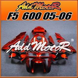Wholesale Plastic Injection Molded - Addmotor Injection Molded Fairings For Honda F5 CBR600RR 2005 2006 CBR 600RR 05 06 CBR 600 RR Body Kit Orange Black H65187+5 Free Gifts