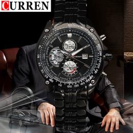 Wholesale Luxury Men Quartz Watch Curren - Curren watches men luxury brand military watch men full steel wristwatches fashion casual waterproof army sports quartz 8083