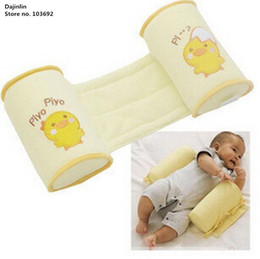 embroidered baby pillows UK - New Baby Pillow to finalize baby design pillow Correct the flat head Prevent a cartwheel pillow Yellow chicken cartoon LY