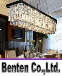 Wholesale Crystal Black Chandelier Lamp - Length 100cm  80cm Modern Crystal Color LED Pendant Light Ceiling Lamp Chandelier Lighting Free shipping LLFA1086