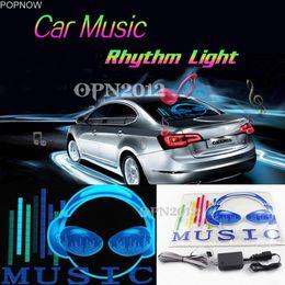 Popnow 45x30cm Car Sticker LED EL Sound Attivato Equalizzatore Glow Flash Panel Multi Colore Luce Musica Rhythm LED Flash Light # 2295 da