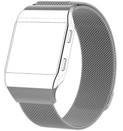 Wholesale Magnetic Bracelet Connectors - For Fitbit Ionic Watch Band Bracelet Magnetic Milanese Loop Band With Adapter Metal Mesh Adjustable Stainless Steel Band With Connector