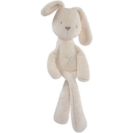 Wholesale Comfort Day - Baby Stuffed Plush Toys Children Girls Bunny Dolls Cute Beige Rabbit Kids Sleep Comfort Toy Animals New Year Gift Free Drop Ship