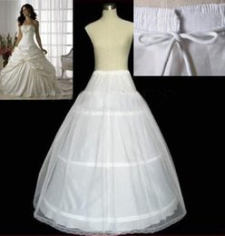 Wholesale Cheap White Cotton Skirts - 2015 Wedding Dress Petticoats Ball Gown Slip Floor Length Hoop Skirt Petticoat Crinoline Underskirt Cheap Under 10 Free Size In Stock