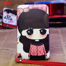 Wholesale Girl Cell Phone Wallet - 2016 New Japanese Cartoon Cute Girl Graffiti Purse Multi Feature Phone Wallet Short Feminino Designer Wallets