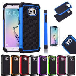 Wholesale Galaxy S3 Rugged - For Samsung s6 Hybrid Football Case Rugged Impact Rubber Matte Shockproof Heavy Hard Case for iphone 6 Plus Samsung Galaxy S3 S4 S5 S6 Edge