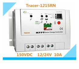 Wholesale solar tracer - High quality 10A MPPT Solar controller Tracer-1215RN with MT-5,12V 24V Auto switch PV battery Charge