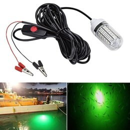 Wholesale Underwater Fishing - Fishing Light Green Color 12V 15W Deep Drop Underwater Light Fishing Lures Fish Finder Lamp Attracts Fish Prawns Squid Krill LLFA
