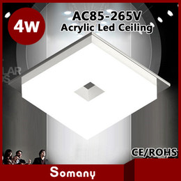 Wholesale Down Light Embedded - Wholesale-Wholesale Novelty Items 4pcs lot Frosted Acrylic Led Embedded Down Light Display Light 3W Round 4W Square Indoor Ceiling Lamp