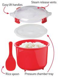 Wholesale Chinese Steamer - Wholesale-1 pcs plastic microwave rice steamer plastic bowl chinese rice bowls aparelho de jantar