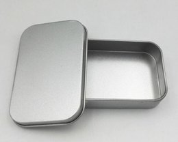 Wholesale Money Tins - Hot Housekeeping Tin Box Empty Silver Metal Storage Box Case Organizer For Money Coin Candy Keys U disk headphones gift box