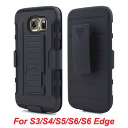 Wholesale Galaxy Impact Armor S4 - Future Armor Impact Hybrid Hard Case Belt Clip Holster Kickstand Combo For Samsung Galaxy S3 S4 S5 S6 Edge cell phone cases cover