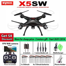 Wholesale Gopro Quad - New SYMA X5SW   X5SW-1 WIFI RC Drone Quadcopter with FPV Camera Headless 6-Axis Real Time RC Helicopter Quad copter Toys Factory Wholesale