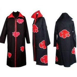 Wholesale Naruto Akatsuki Cosplay Cloak - 2015 new fashion Naruto Akatsuki Uchiha Itachi Cosplay Cloak Hooded cosplay costumes Stage clothing, performance clothing