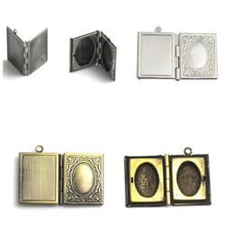 Wholesale Engraving Brass - Beadsnice brass book locket engraved locket book charm gift item for her double locket findings supplies ID 32275
