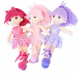 Bambole fatte a mano di nozze online-In.Grace Ballerina Girl Dolls Bellissime bambole da ballo fatte a mano da principessa Bambole da sposa Regali unici per bambini Ragazza