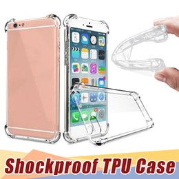Wholesale Cheapest Iphone 5s - Cheapest Crystal Clear Transparent Anti Knock Shock Soft TPU Gel Silicone Case For IPhone 8 7 6S Plus 5S X For S6 S7 edge Mobile Phone Cases