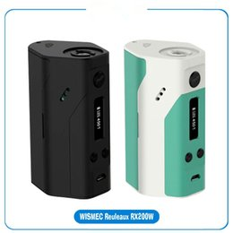 Wholesale Cell Chips - 2015 Brand new Wismec Reuleaux RX200 200W TC Box with 3 18650 cells and Joyetech Chip RX200 MOD VS Sigelei 200W Fuchai