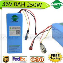 Wholesale E Bicycle 36v - E-Bike Battery 36v 8Ah 250W electric bicycle battery 36v with 42v 2A charger,15A BMS 36v Lithium Battery Pack Free Shipping