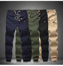 Wholesale Men Leisure Pants - New design 2015 Fashion Drawstring Men Pants High quality Cotton Men jogger pants Leisure Pants Men M-5XL size Free Shipping