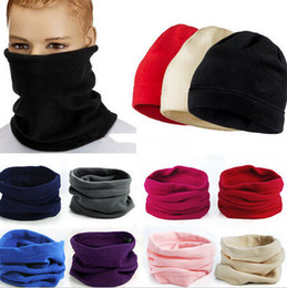 Wholesale Wholesale Fleece Hats Scarves - Popular Hot Polar Fleece Snood Hat Neck Warmer Ski Wear Scarf Beanie Balaclava
