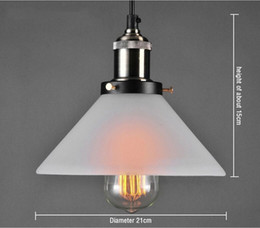 Wholesale Frosted Glass Pendant Light - 2016 New design Nordic Modern Frosted Glass Pendant Light Loft Minimalism White Clear Lightings Northern Europe Vintage Edison Pendant Lamps