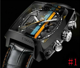 Wholesale Grand Calibre Automatic - new Luxury Brand men mechanical watches automatic grand calibre 16 day date stainless steel mens dive watches TH50