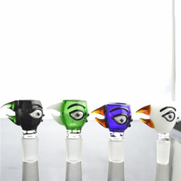 Wholesale Unique Birds - Best Bird Head Glass Bowls 14.4mm or 18.8mm Joint Colorful Male Bowls Unique Design Smoking Bowl for Water Pipes Glass Bongs Accessories