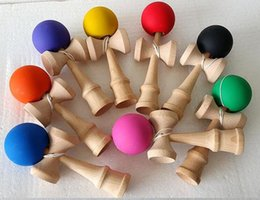 Wholesale Toy Sword Rubber - 18.5CM Kendama Ball Japanese Traditional Wood Game Toy Education Gift rubber paint kendama sword jade jade sword ball toy