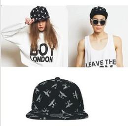 Wholesale london boy snapback - Wholesale-2015 New Arrival Fashion GD Hip Hop Snapback Hat Eagle BOY LONDON Design Baseball Cap For Men And Women