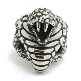 Wholesale Jewelry Designs Gothic - 1pc Fashion Cool Design Cobra Ring 316L Stainless Steel Man Boy Band Party New Jewelry Gothic Cobra Ring