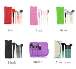 Wholesale Case For Make Up - Makeup For You Professional 7 pcs paintbrushes of Makeup Brushes Set tools Make-up Toiletry Kit Wool Brand Make Up Brush Set Case PY