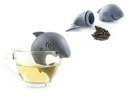 Argentina Tamices de silicona Tea Infuser Shark Shap Tamiz infusor Bolsas de té vacías Difusor de hojas te infusres tea ball Accesorios supplier tea shark Suministro