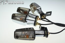 Wholesale 4x Motorcycle Turn Signal - Turn Signals Lights Custom Motorcycle 4x Spear Amber Side Turn Signals Lights Fits For Yamaha Zuma Morphous Razz Champ 50 125 100 - Pazoma