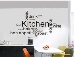 Wholesale Vinyl Wall Art Sayings - Quotes New Anime Family Kitchen Wall Saying Vinyl Lettering Art Decal Poster Wall Sticker Home Decor Decal Free Shipping