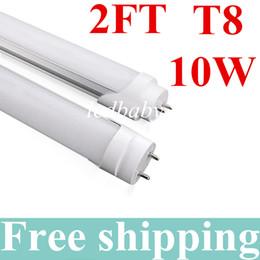 Röhrenfluoreszenzlichter online-10W 0.6mT8 LED Leuchtröhre 2 Ft 85-265V AC 3000-6500K LED Glühlampe Lampe Leuchtstoffröhre SMD2835 Kalt / Warmweiß