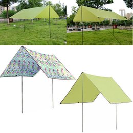 Wholesale Sun Foil - Wholesale- 300*270*205CM 190T Dacron Waterproof Sun Shelter beach camping picnic Havelock with aluminum foil mat