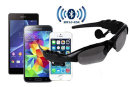 Wholesale Palms Sun - Hot sell Sun Glasses Bluetooth Headset Sunglasses Stereo Bluetooth Headphone Wireless Handsfree for iphone 6 plus 5S Samsung note4 free DHL