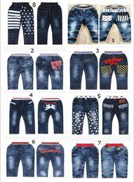 Wholesale Children Boy Pants Pocket - New Boys' pants Children Casual Jean baby pants Boy's Jeans Cowboy pants cartoon pants long denim trousers Kids LH6