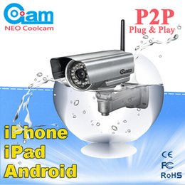 Wholesale Neo Coolcam - Wholesale-NEO COOLCAM Outdoor Wireless WiFi Night Vision IP Network Security CCTV IR Camera 6mmCCTV IR Camera free shipping