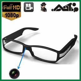 Wholesale Hd Video Frame - Full HD 1080P eyewear glasses spy Camera V12 black color high resolution 30fps video frame freeshipping
