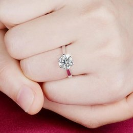 Wholesale Pure Pink Jewelry - Real 925 Sterling Silver Sapphire Ring Pink Wedding Engagement Zirconia Finger anel CZ Diamond for Women Jewelry Pure 100% Charming Jewelry