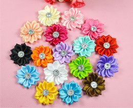 Wholesale Baby Headbands Craft - 100pcs lot mix color Kid Baby Girl 3.5cm sharp petal flower for Headband Hair Bow ,brooch , dresses DIY craft Corsage accessorie