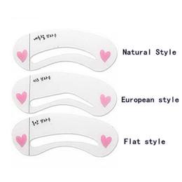 plantilla de polvo de ceja Rebajas 3 Estilos Stebris para cejas, Maquillaje de cejas Maqueta Modelo DIY Plantilla de cejas de belleza, Herramienta de diseño de cejas para maquillaje