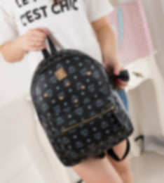 Wholesale Men Leather Backpack Bags - Wholesale-HOT!!!! Women backpack Special Offer PU Leather bags rivets backpack schoolbag free shipping
