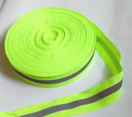 Wholesale Wholesale Reflective Sew Tape - Wholesale-50mm x 15mm * 10 Meter   lot, Oxford Lime-Silvery-Lime reflective fabric sewing tape,sewn on reflective tape,free shipping